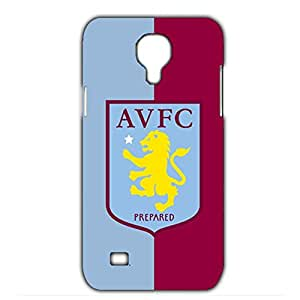 Aston Villa FC Red And Blue Printed FC Team Logo Customized Shockproof Slim Hard Plastic 3D Case LA6K106 For Samsung Galaxy S4 mini