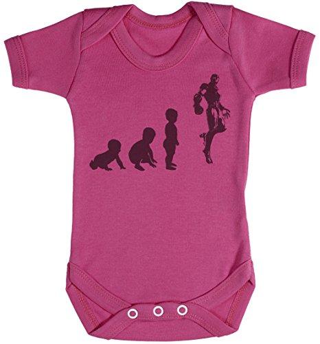 Baby Evolution to A Iron Man Baby Gift, Baby Boy Gift, Baby Girl Gift, Baby Boy Bodysuit, Baby Girl Bodysuit - Newborn Pink -