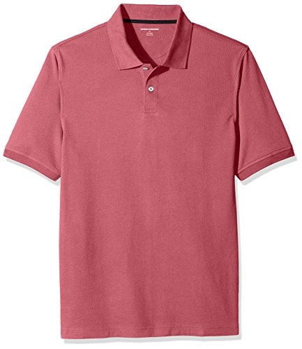 Amazon Essentials Men's Regular-Fit Cotton Pique Polo Shirt, Washed Red, XX-Large