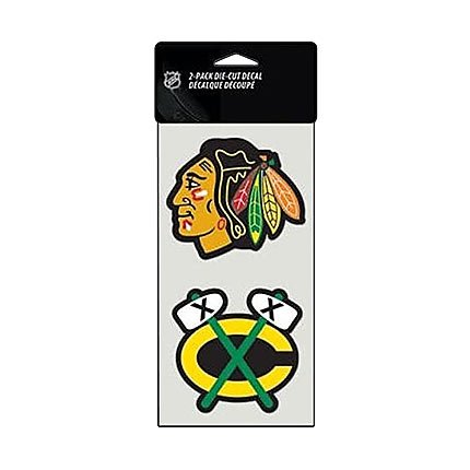 (WinCraft NHL Chicago Blackhawks Perfect Cut Decal (Set of 2), 4