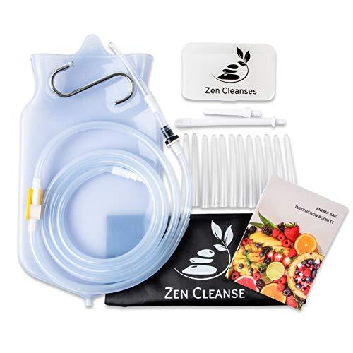 Zen Cleanse Enema Bag Kit - Reusable Home Enema Bag and Accessories (Best Soap For Enema)