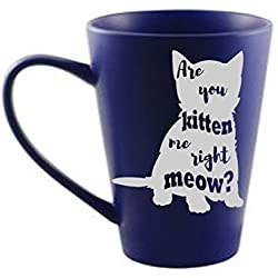 Are You Kitten Me Right Meow? White Vinyl Decal for Cups, Mugs, Vehicles, or Electronics