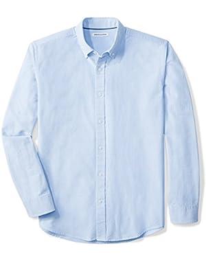Men's Regular-Fit Long-Sleeve Solid Oxford Shirt