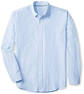 Amazon Essentials Men's Regular-Fit Long-Sleeve Solid Oxford Shirt, Blue, Large (B06XW46R7J) | Amazon Products