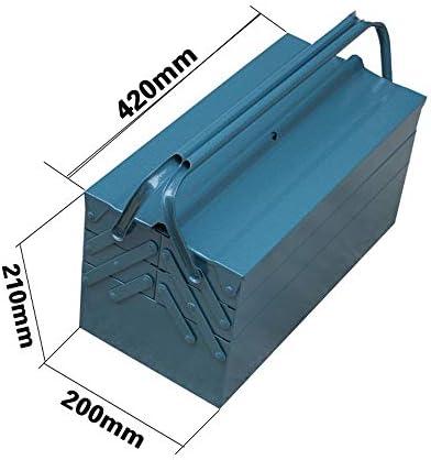 ChenCheng ツール収納ボックス - 金属三層折りたたみツール収納ボックスホームカー便利なスーツケース部品修理ツール収納ボックス ツールボックスストレージと組織 (Size : 420mmx200mmx210mm)