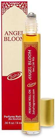 Angel Bloom Perfume Oil Roll-On (No Alcohol) - Essential Oils and Perfumes for Women and Men by Zoha Fragrances, 9 ml / 0.30 fl Oz