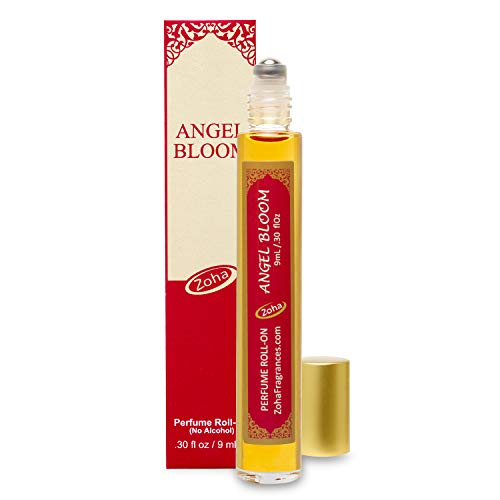 Angel Bloom Perfume Oil Roll-On (No Alcohol) - Essential Oils and Perfumes for Women and Men by Zoha Fragrances, 9 ml / 0.30 fl Oz ()