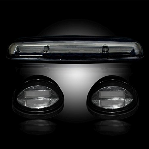 Recon 264155BKHP Gmc & Chevy 02-07 (1st Gen Classic Body Style) Heavy-Duty (3-Piece Set) Smoked Cab Roof Light Lens With Amber High-Power Oled Bar-Style Leds - (complete Wiring Kit Sold Separately) (Truck Set Complete Wiring)