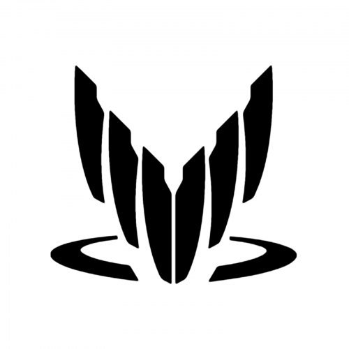 Legion Costume Mass Effect (Spectre Symbol Mass Effect Vinyl Decal Sticker|Cars Trucks Vans Walls Laptops Cups|Black|5 In|KCD828)