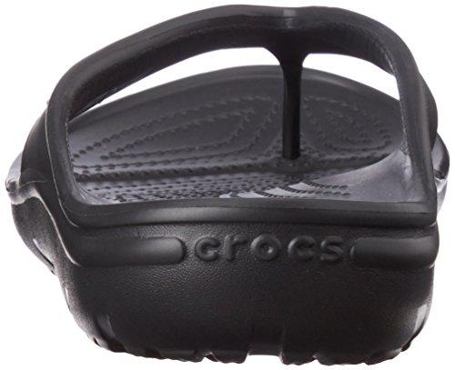 crocs Unisex-Erwachsene Hilo Flip Pantoffeln Schwarz (Black)
