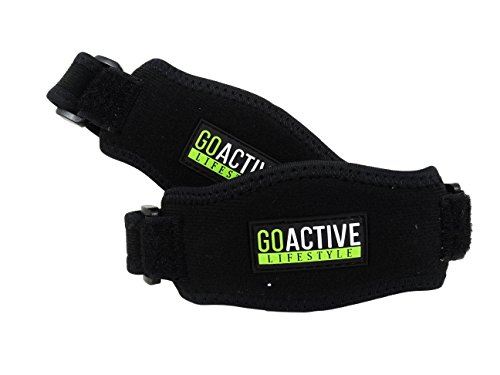 Go Active Lifestyle Tennis Elbow Brace (2-count) Pain Relief for Tennis & Golfer's Elbow - Best Forearm Brace & Elbow Support with Compression Pad - One Size Fits Most