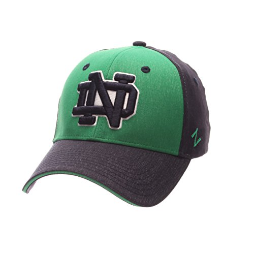 Notre Dame Team Colors (Zephyr NCAA Notre Dame Fighting Irish Adult Men Challenger Cap, Medium/Large, Heathered Team Color)