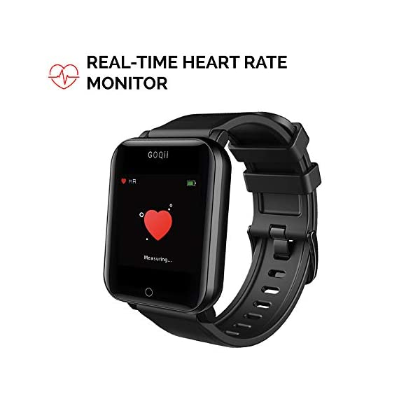 41Ga8HTDJWL GOQii Smart Vital Fitness SpO2, body temperature and blood pressure tracker with 3 months personal Coaching
