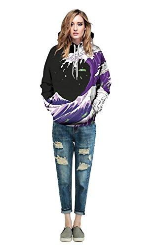 Hoodie 3D, Morbuy Pull fantaisie pour homme Sweat-shirt unisexe pour femme Sweat à capuche avec grosse poche (L/XL)