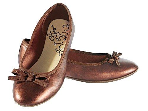 Damen Ballerinas in Gold und Bronze Größe und Farbe wählbar Bronze