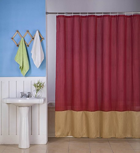 Burgundy And Gold Shower Curtain Austin Horn Classics 72 Inch x