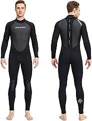 Wetsuit Men Women, 3mm Neoprene Full Body Keep Warm Surfing Suits Back Zip Swimsuits for Diving Snorkeling Sur