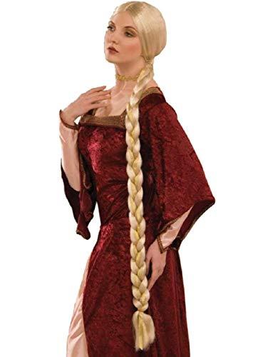 Renaissance Costume Blonde Maiden Princess Rapunzel Braided Wig