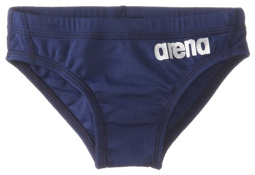 Arena Boy's Skys Youth F N, Navy/Metallic Silver, Size 28 (Brief Water Polo)
