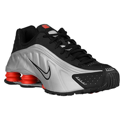 Nike Men's Shox R4 Black/Mtllc Slvr/Mx Orng/Mtllc S Running Shoe 10 Men US ()