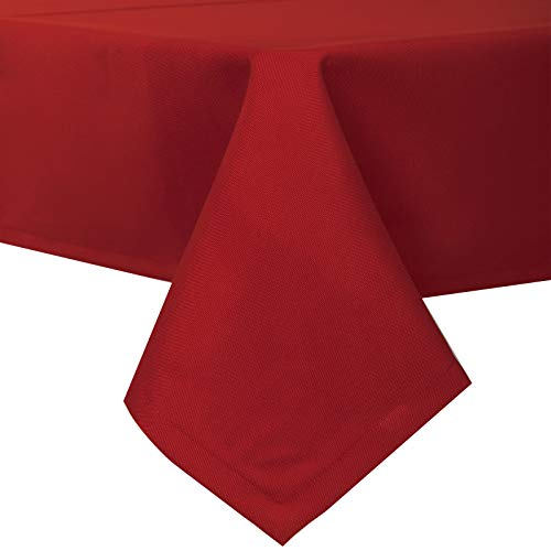 EUGAD Mantel de Mesa Comedor Moderno 130x240 cm Antimanchas Antigrasa 100% para Proteger Su Mesa Cafeterias Bar Color Rojo 0225ZB