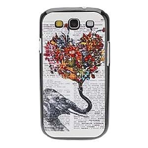 ZXM-Florido elefante Caso duro del patrón para Samsung Galaxy S3 I9300