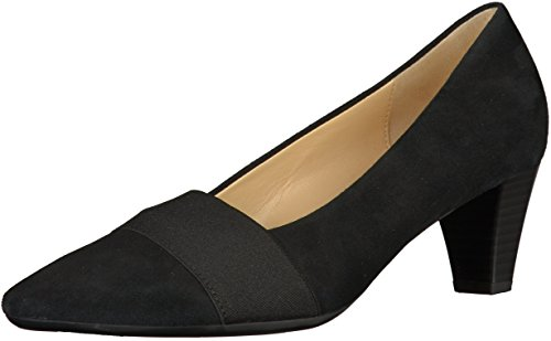 Gabor45-141-17 - Zapatos para mujer Ante Negro
