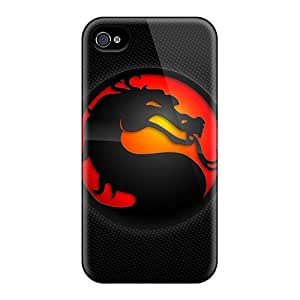 Cute Tpu HugeOfficial Mortal Kombat Case Cover For Iphone 4/4s