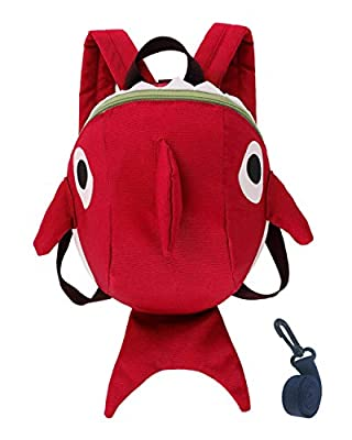 Toddler Kids Leash Backpack Cute Shark with Safety Harness Anti-lost Leash and Chest Strap for Preschool Child - Blue