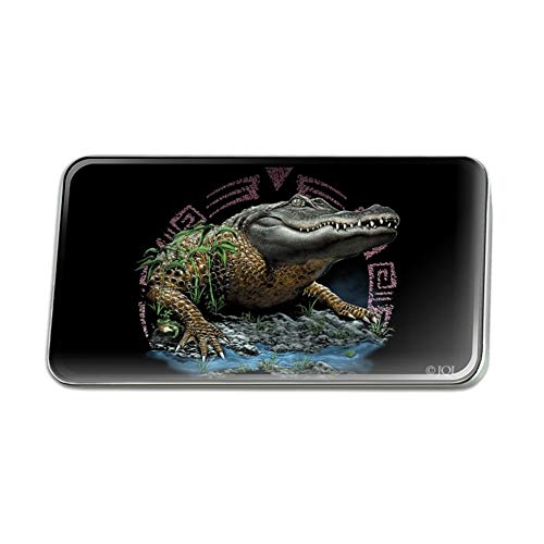 GRAPHICS & MORE Aztec Alligator Gator Metal Rectangle Lapel Hat Pin Tie Tack Pinback