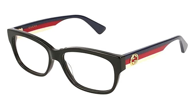 Gucci - Monture de lunettes - Femme Noir Noir femme  Amazon.fr ... deca20f4f03c