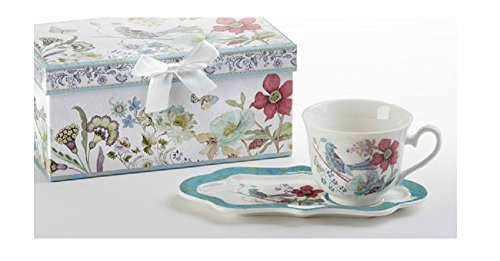 Delton Products Partridge 4.2 inches x 9 inches Porcelain Tea & Toast Set Drinkware -