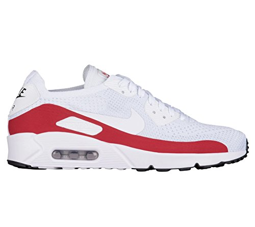 promo code 574f5 395f9 Nike Air Max 90 Ultra 2.0 Flyknit Mens Running Trainers 875943 Sneakers  Shoes (UK 11 US 12 EU 46, White Gym Red Black 102)