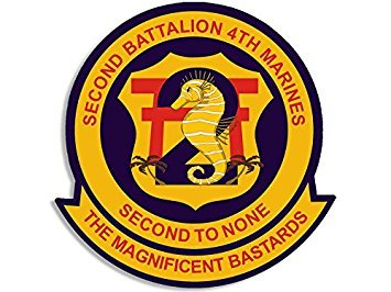 MAGNET 2nd Battalion 4th Marines Seal Magnet(decal logo usmc military army) Size: 4 x 4 inch