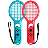 Tennis Racket Nintendo Switch, Twin Pack Tennis Racket N-Switch Joy-Con,Accessories Grips for Nintendo Switch Somatosensory Games Mario Tennis Aces - Twin Pack