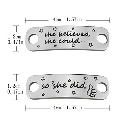 f15b0a411837f Rantanto 1 Pair Shoe Lace Tag Inspirational Shoe Lace Charm For ...