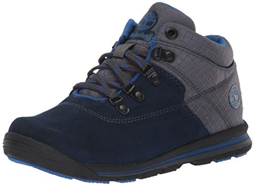 Timberland Unisex GT Rally Mid Fashion Boot, Navy Suede/Fabric, 2.5 Medium US Little Kid ()