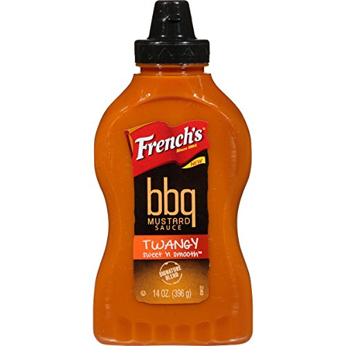 French's Twangy Sweet 'N Smooth BBQ Mustard Sauce, 14 Ounce (Pack of 12) (Mustard Vinegar Sauce)