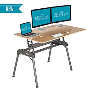 VARIDESK - Height-Adjustable Full Standing Desk - Pro Desk 60 - Bamboo