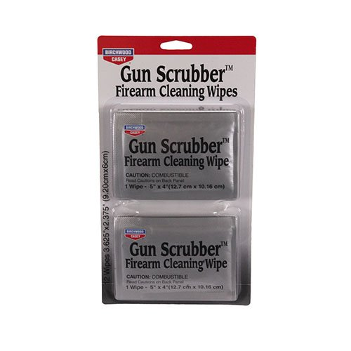 Birchwood Casey Gun Scrubber Firearm Cleaner Take-Alongs 12 Wipes