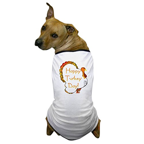 (CafePress - Happy Turkey Day! Dog T-Shirt - Dog T-Shirt, Pet Clothing, Funny Dog Costume)