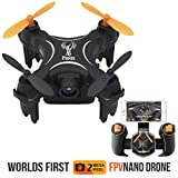 PHNIX Toy Drone Nano Quadcopter   2MP HD Drone Camera   Selfie Mode   2.4GHz Drone Kids   6 axis-Gyro   Altitude Hold Function   Headless Mode   Autonomous Path Following Mode   Black Trident RC