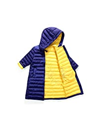 AIKSSOO Kid Boy Girl Winter Outerwear Light Jacket Thicken Mid-Length Hooded Coat