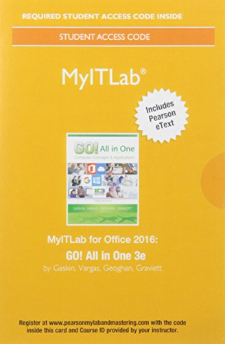 Myitlab W/Pearson Etext For Go! All...