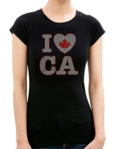 I LOVE CANADA Rhinestone/ Stud Women's - Outlet Niagara Canada