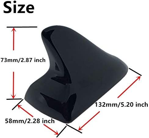 Color: Silver Aerials for Toyota Camry Shark Fin Decoration Antenna Car Aerial Roof Accessories White Red Silver Black