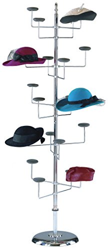 Marvolus 1820-F Women's 20-Hat Floor Rack With Round Base & Finial Top by Marvolus Manufacturing