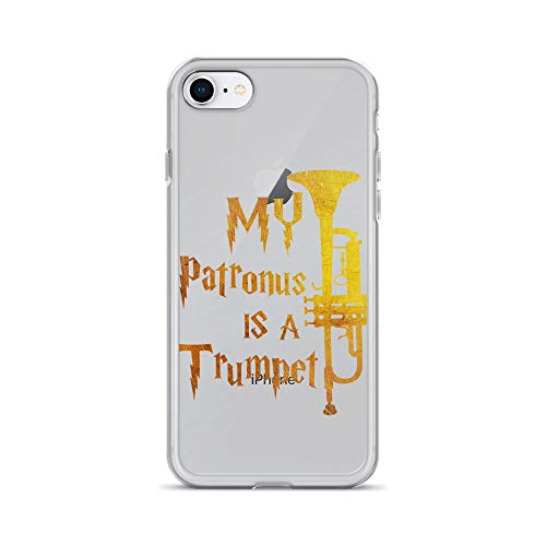 iPhone 7/8 Pure Clear Case Cases Cover My Patronus is A Trumpet - Trumpet Players Men