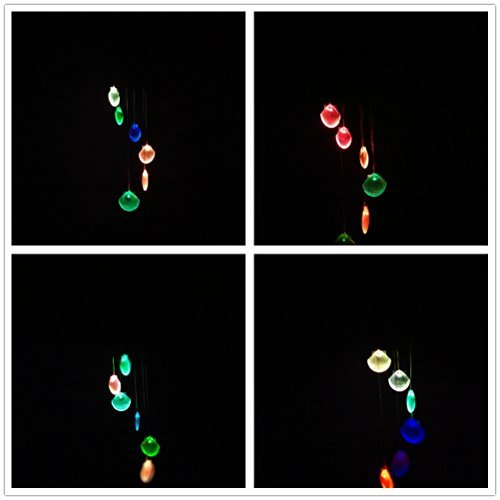 Xhope Changing Color Seashell Solar Wind Chimes LED Wind Chime Night Lights Solar Hanging Lantern for Home Garden Bedroom Outdoor Decoration