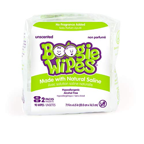 Baby Wipes Unscented by Boogie Wipes, Wet Wipes for Face, Hand, Body & Nose, Made with Vitamin E, Aloe, Chamomile and…